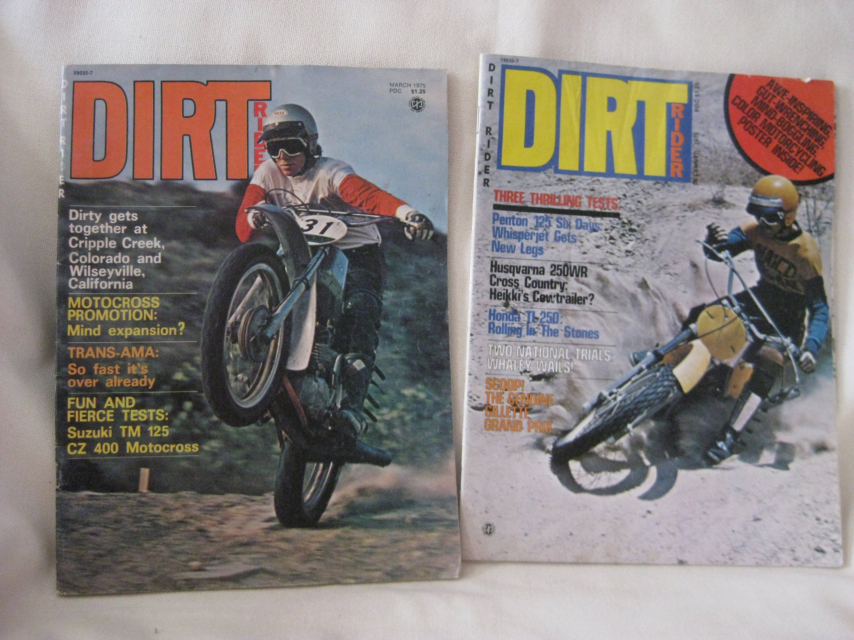 Vintage Dirt Rider Magazine And Husqvarna Poster By