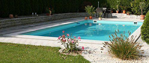 Wunderschöner Pool Schwimmbecken Steinbach Massivpool, Bausatz Highlight De  Luxe Top 4, Blau, 900
