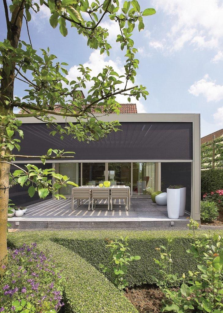 Mit der innovativen Renson Camargue® Terrassenüberdachung verwandeln ...