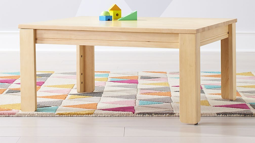 Adjustable Height Wooden Children S Table For Homeschool Room