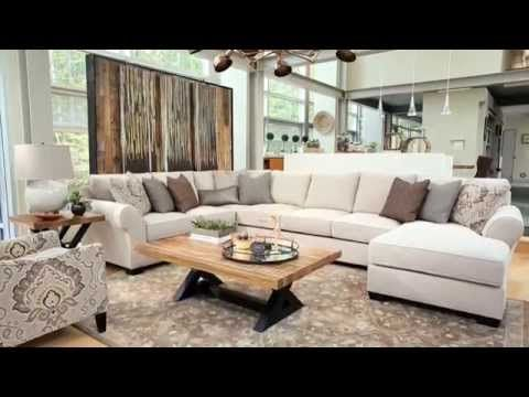 Linen Wilcot 4 Piece Loveseat Sectional View Video