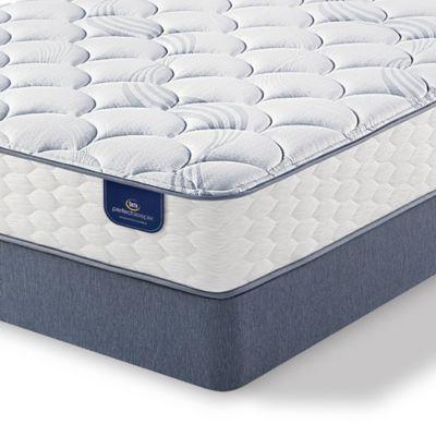 Serta Perfect Sleeper Hayfield Plush Low Profile Twin Mattress Set