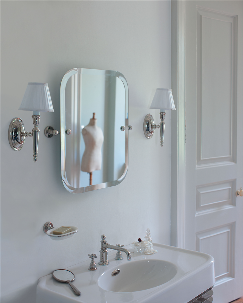 Burlington Arcade Swivel Mirror with Matching Lights ...