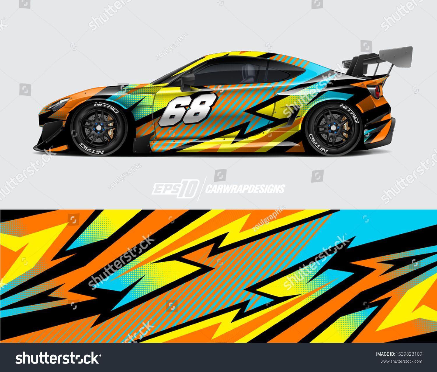 Car Wrap Decal Designs Abstract Racing And Sport Background For Racing Livery Or Daily Use Car Vinyl Sticker Vecto Racing Car Design Car Wrap Design Car Wrap [ 1275 x 1500 Pixel ]