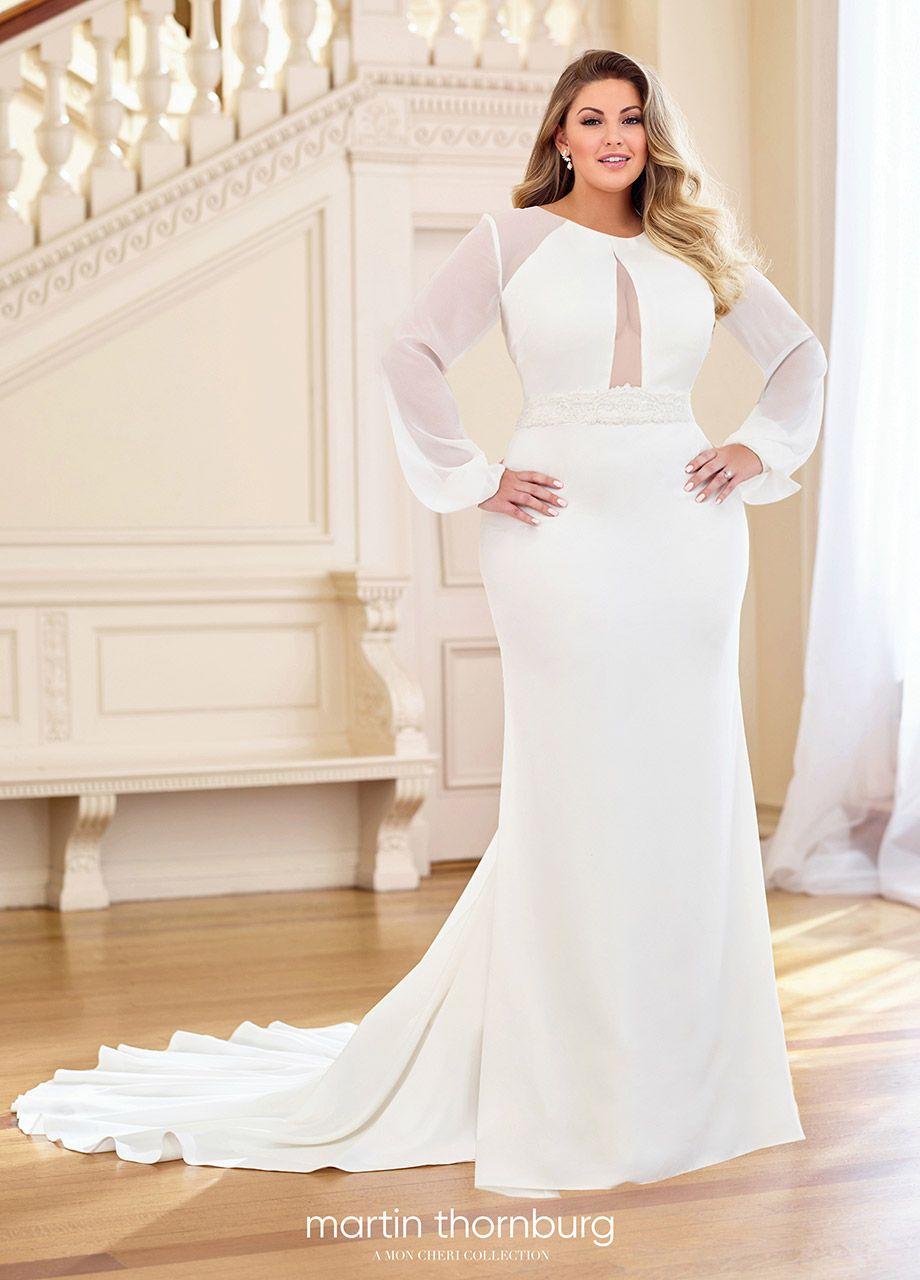Martin Thornburg Serena 119282aw Plus Wedding Dresses Wedding Dress Long Sleeve Plus Size Wedding Gowns [ 1280 x 920 Pixel ]