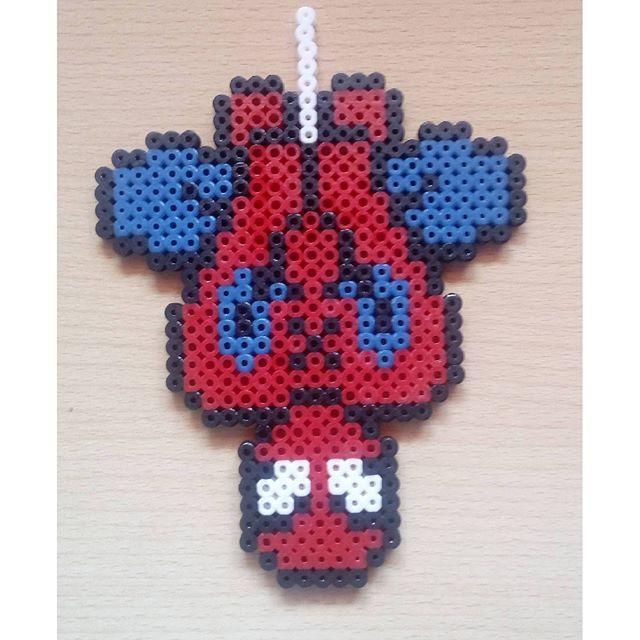 Spiderman hama beads by satur_art