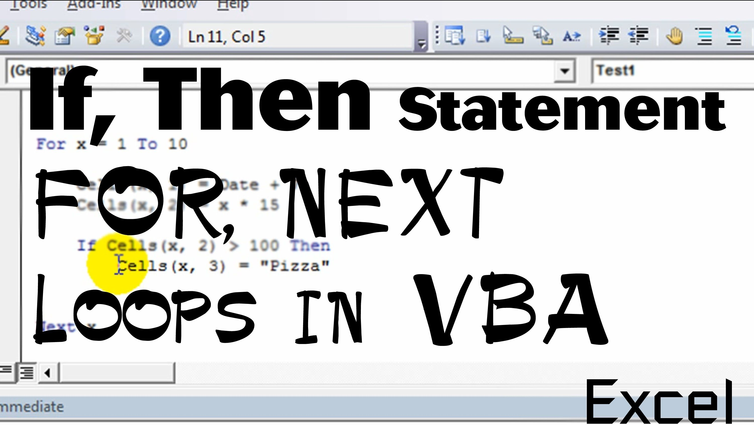 Excel Vba Basics 4