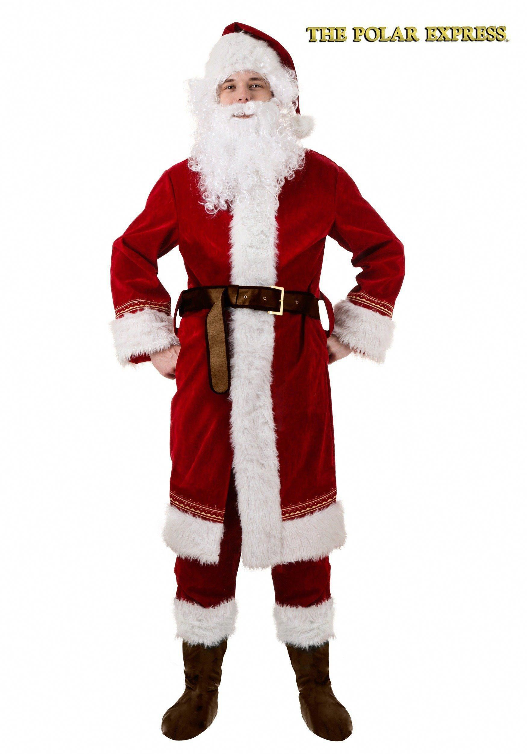 Adult Polar Express Santa Costume Large >>> Check out the