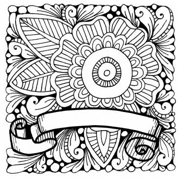 Flower Coloring Page Illustrated By Marie Browning Flower Coloring Pages Love Coloring Pages Coloring Pages