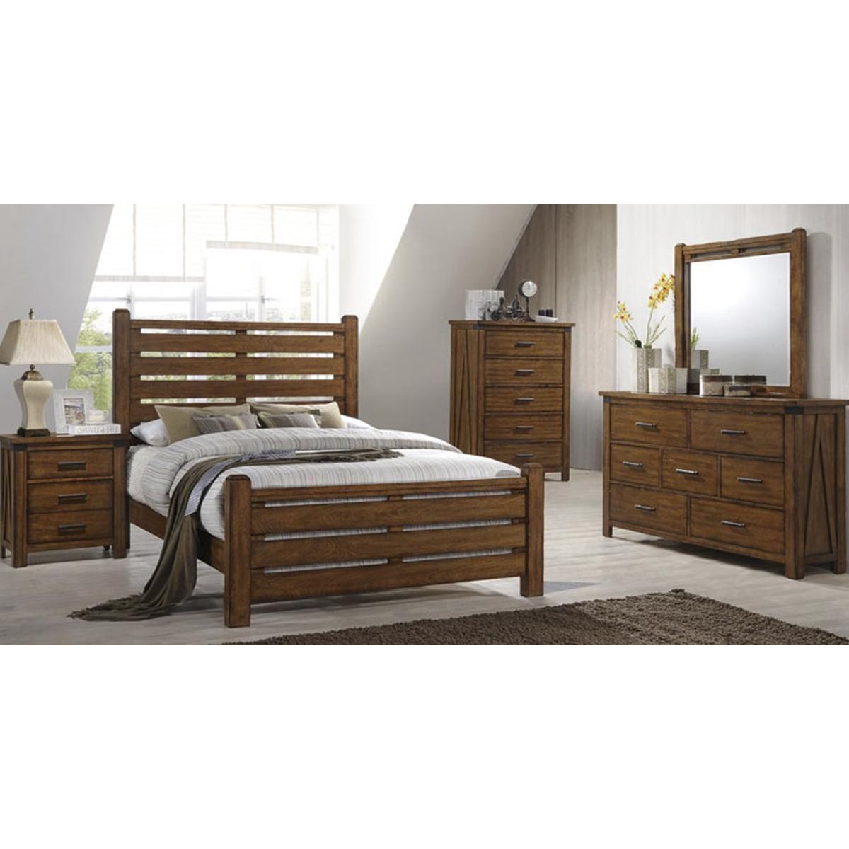 Simmons Upholstery Logan 4 Piece Queen Bedroom Set In Barley