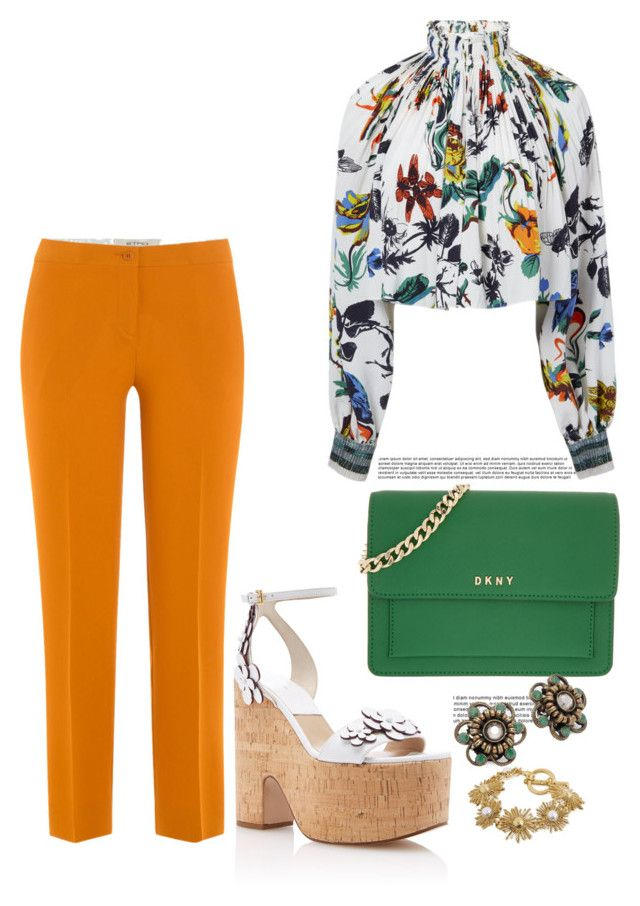 """""""Untitled #3640"""" by janicemckay ❤ liked on Polyvore featuring TIBI, Etro, Oscar de la Renta, DKNY and Miriam Haskell"""