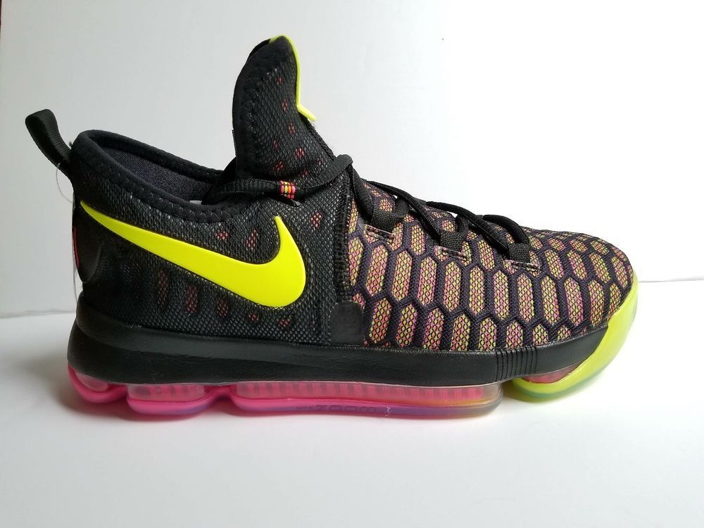 947f69ec9827 Nike-Zoom-KD-9-GS-Unlimited-Olympic-Black-Multi-Color-855908-999  Nike   BasketballShoes