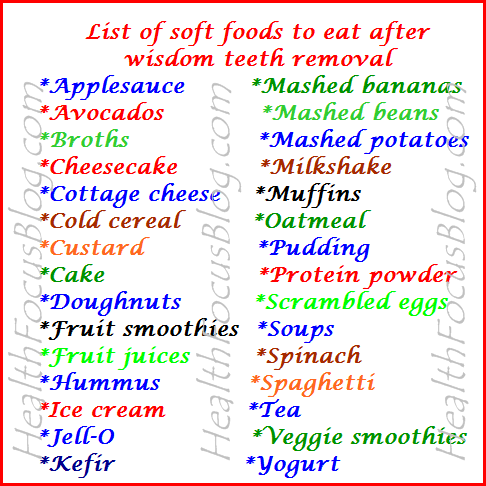 Foods To Eat After Wisdom Teeth Removal After Wisdom Teeth Removal Wisdom Teeth Wisdom Teeth Removal