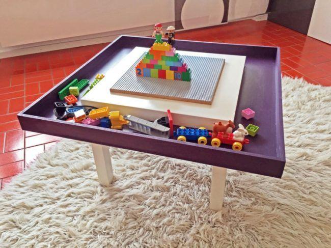 lego ikea tisch klein bausteine ablage lego tisch spieltisch und lego diy