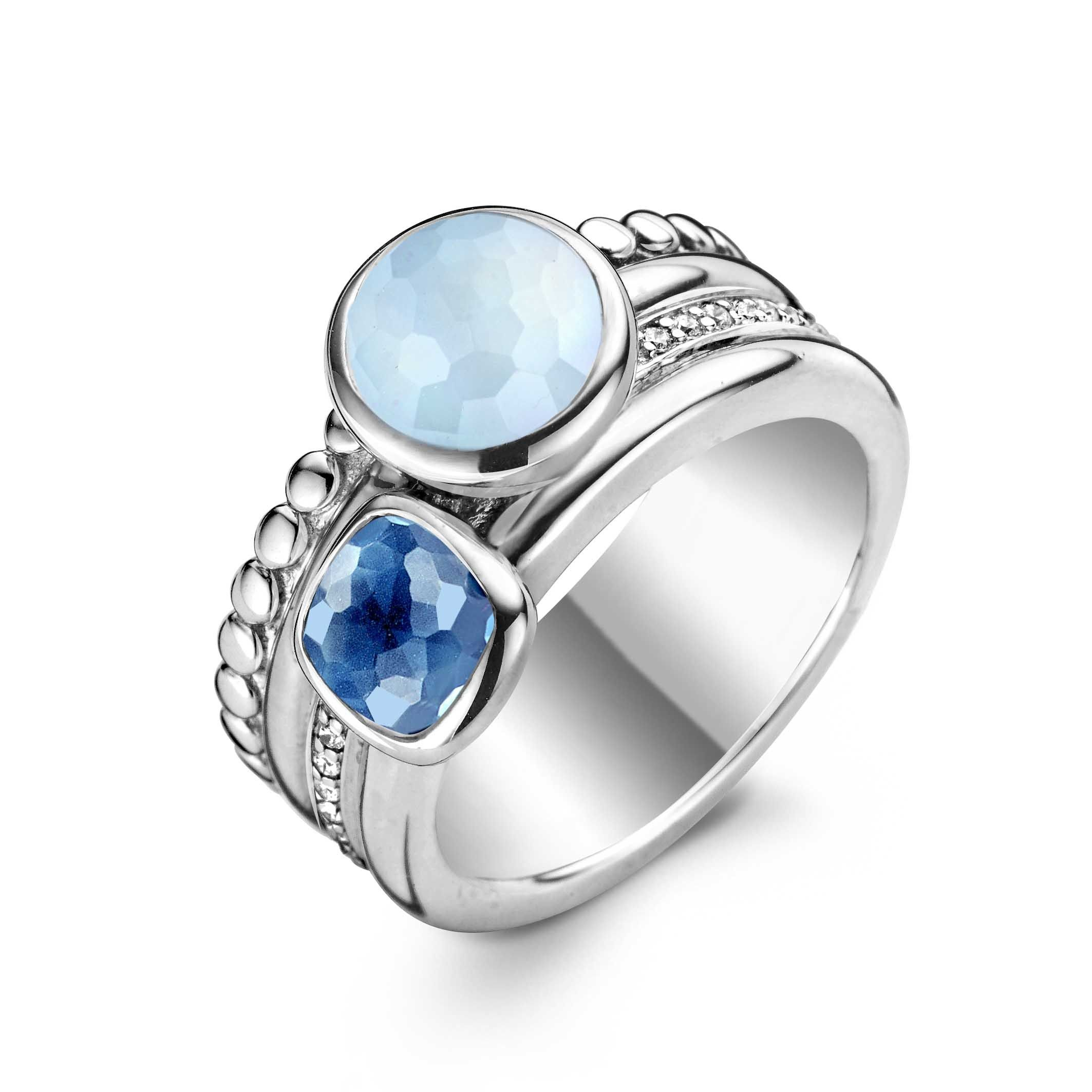 jewellery with rings stone eliise products minimalist fine by maar wide frost blue topaz light silver