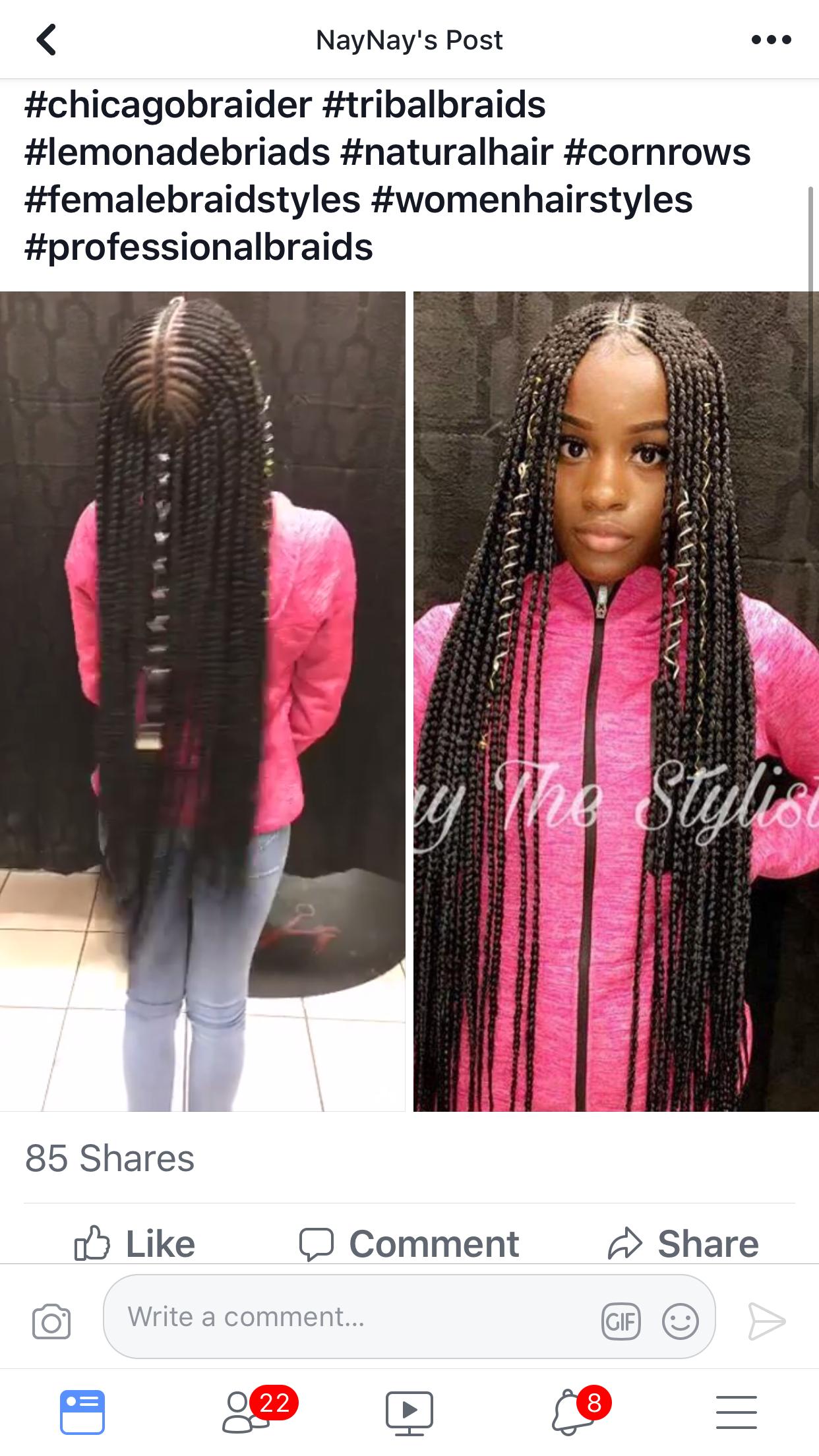 pin braids & feed ins