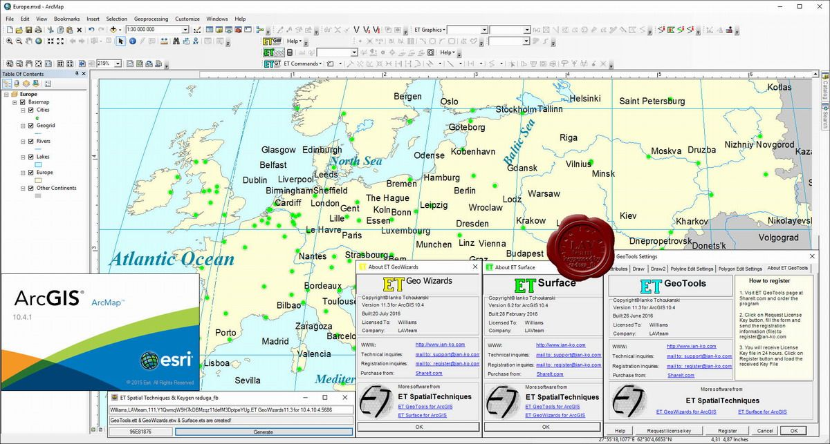 ET SpatialTechniques Products v11.3 for ArcGIS 10.4