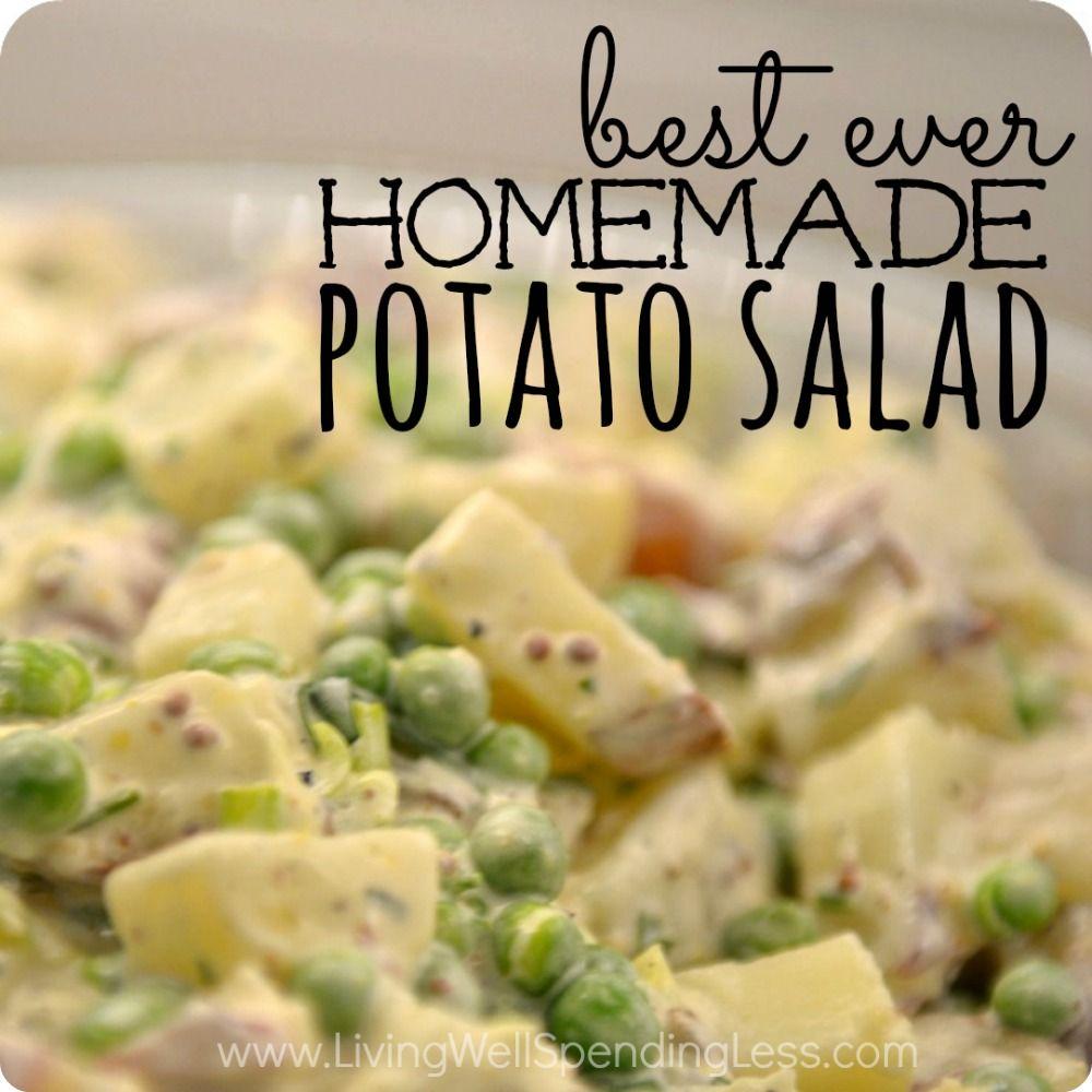 Best ever homemade potato salad recipe potato salad