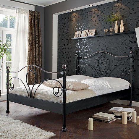 Metallbett Paris Schwarz Silber Gewischt Titan Hochglanz 100 X 200 Cm Betten Gunstig Online Modernes Schlafzimmer Bett Zuhause