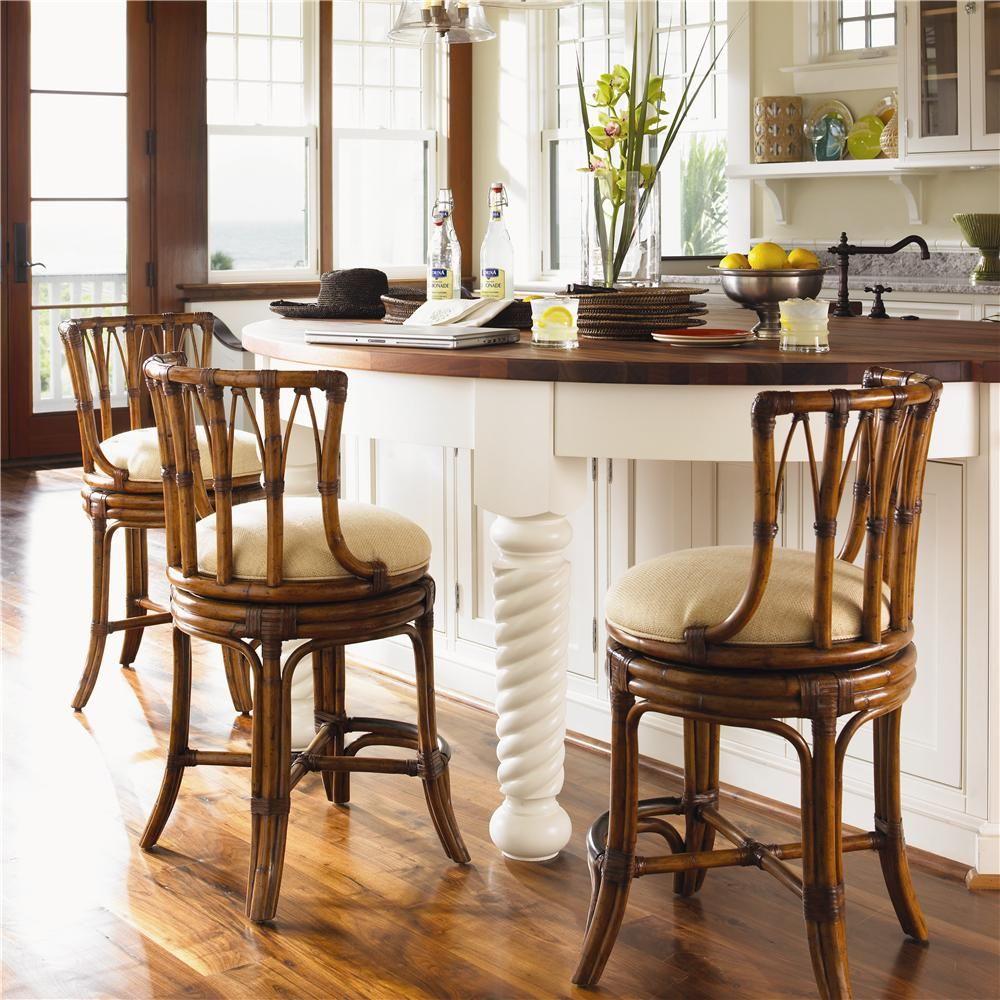 Bar Furniture Store: Island Estate Customizable South Beach Rattan Swivel