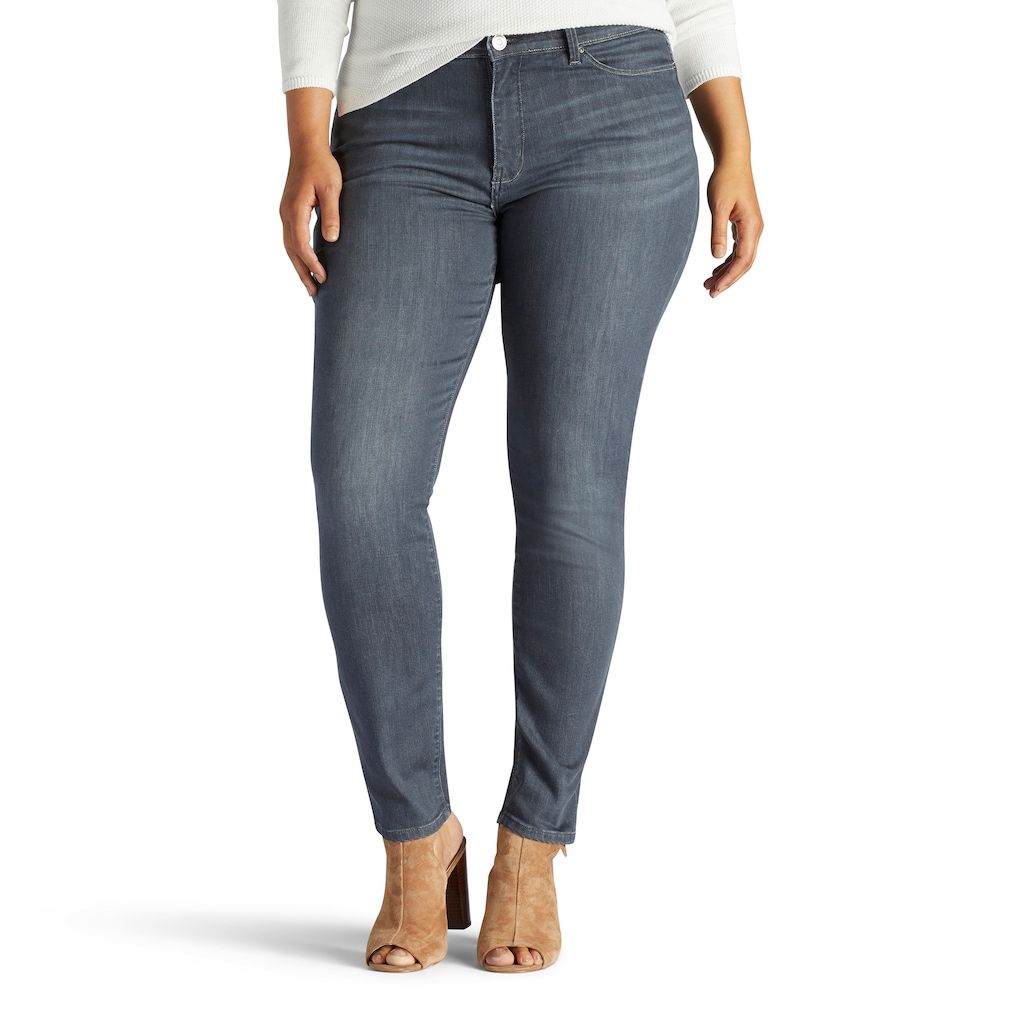 ced1c21f Lee Plus Size Sculpting Slim Leg Pull-On Jeans | Products | Plus ...