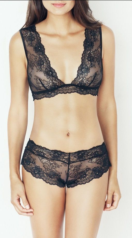 19321a44154 Black Lace Besame Bralette  3 Lovely w a tank letting the lace show ...