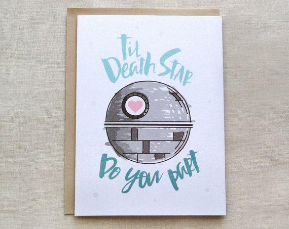 Star Wars Wedding Card Death Til Do You Part