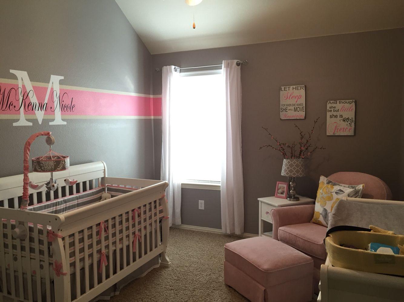 Pink and gray nursery Pink and gray nursery, Grey