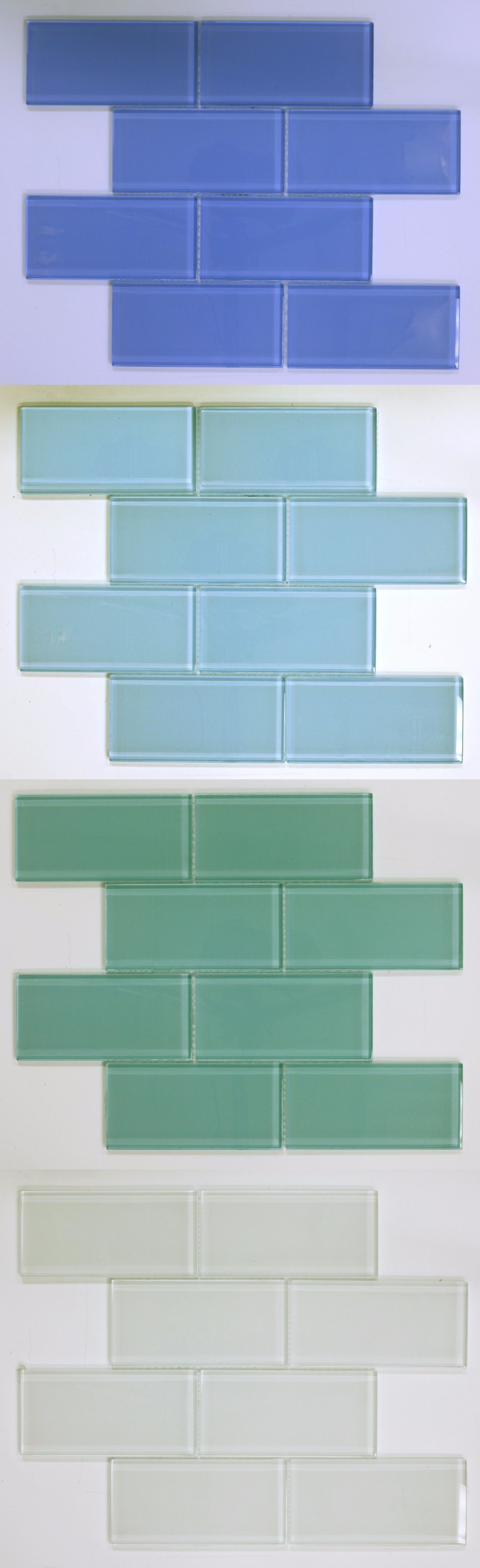 Glass and Mosaic Tiles 160646: Canaan Glass Mesh-Mounted Clear Glass ...