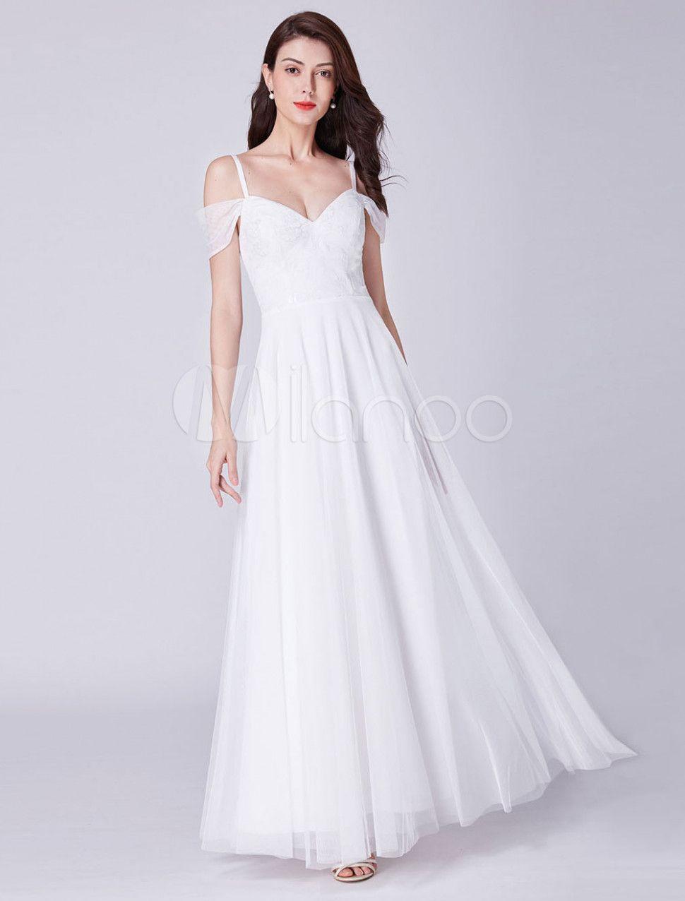 5 Ballkleid Weiß Lang in 5  Hübsche kleider, Kleider für