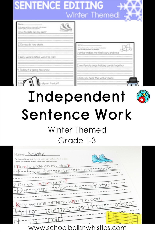 Sentence Editing Winter Sentence Editing Editing Practice Writing Activities [ 1500 x 1000 Pixel ]