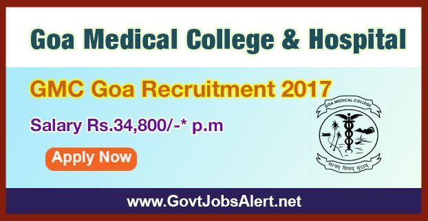 Gmc Goa Recruitment 2017 Hiring Staff Nurse Anm And Other Posts