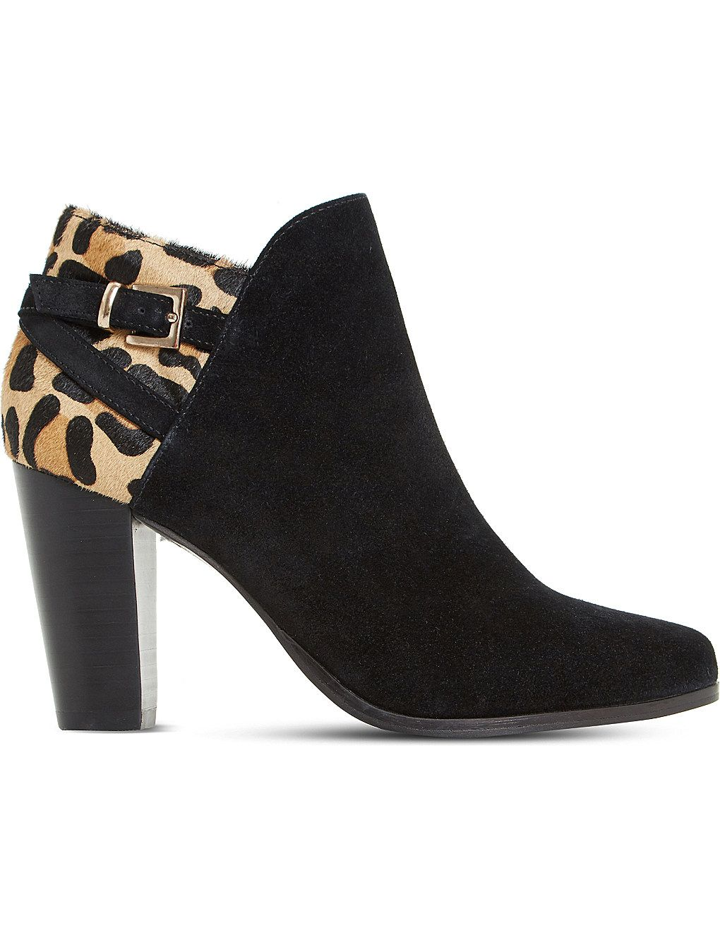 Leopard print heels, Suede ankle boots