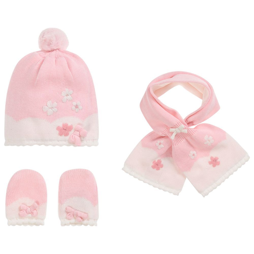 b15038d8eff Baby Girls 3 Piece Hat Set for Girl by Mayoral Newborn. Discover more  beautiful designer Hats for kids online