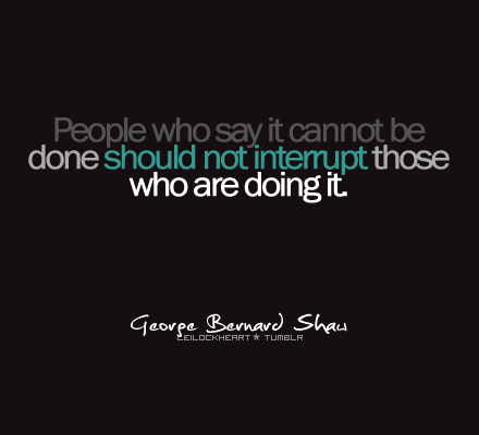 No Interruptions Please - George always says it right!