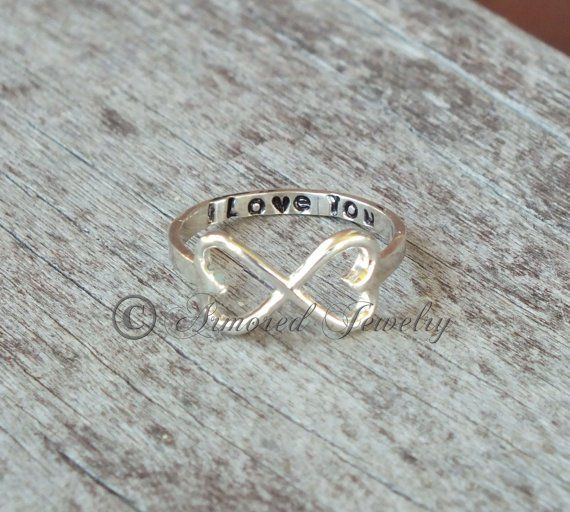 Infinity Hearts Silver Promise Ring Pretty Rings Pinterest