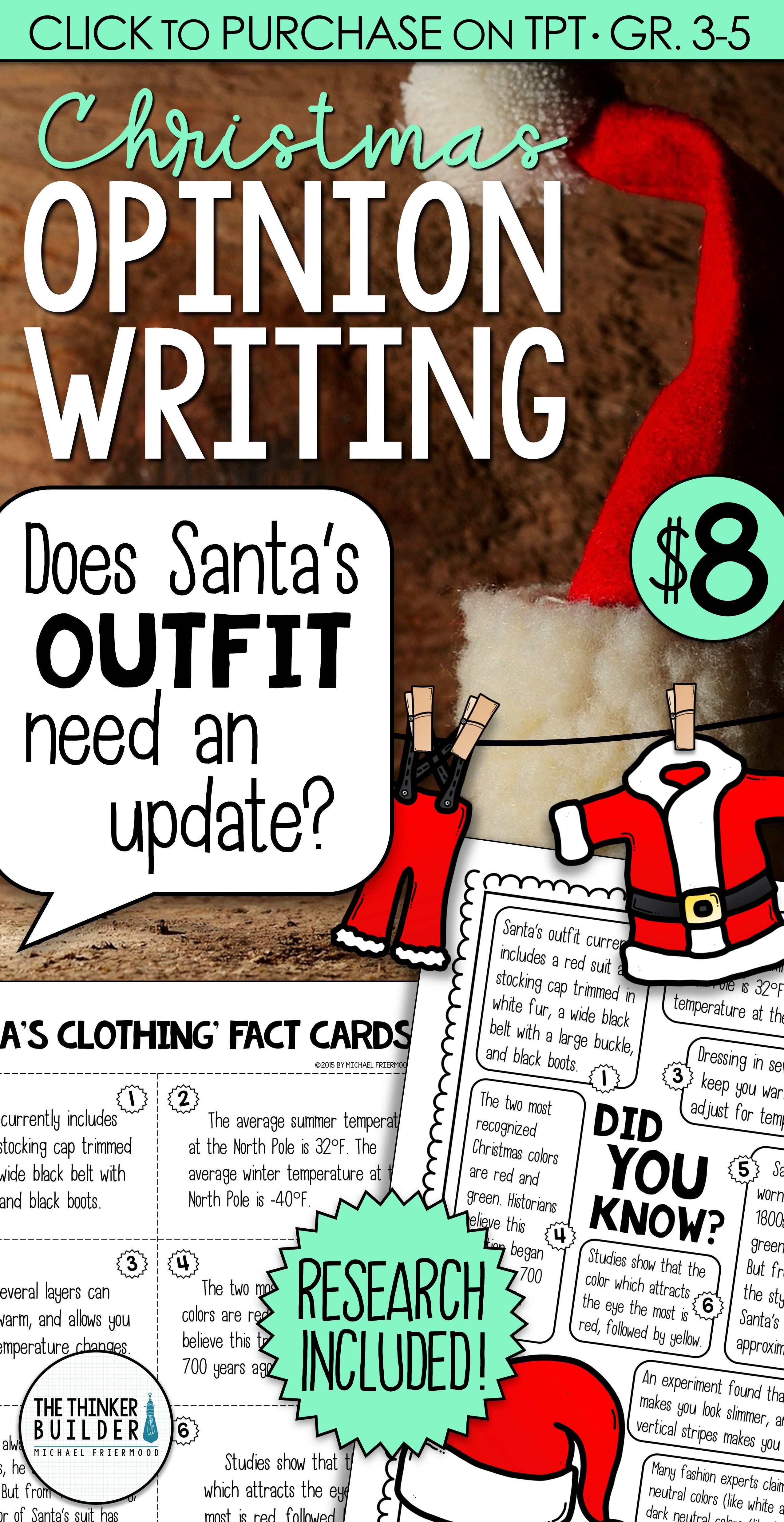 Christmas Writing Opinion Writing Lessons Amp Activities
