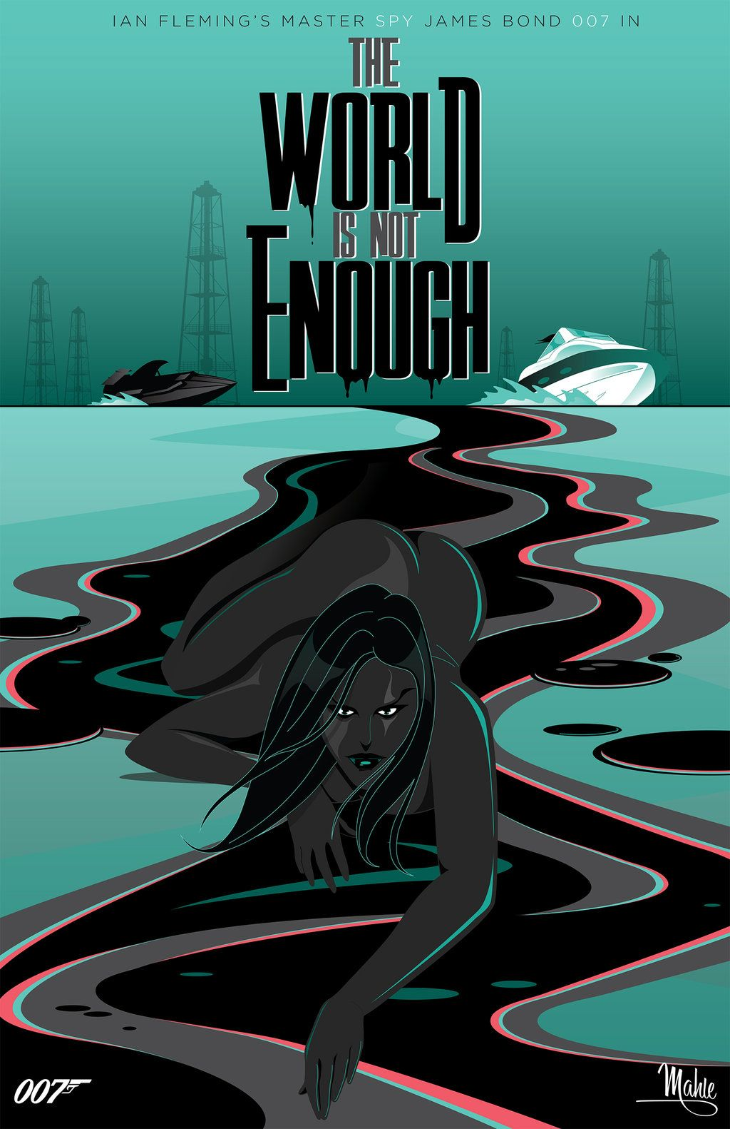 The World Is Not Enough By Mike Mahle James Bond Movie Posters