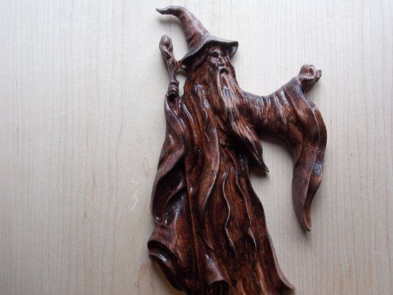 SALE CLEARANCE Wizard Sorcerer Halloween Wall Decor Wood Decor Wall