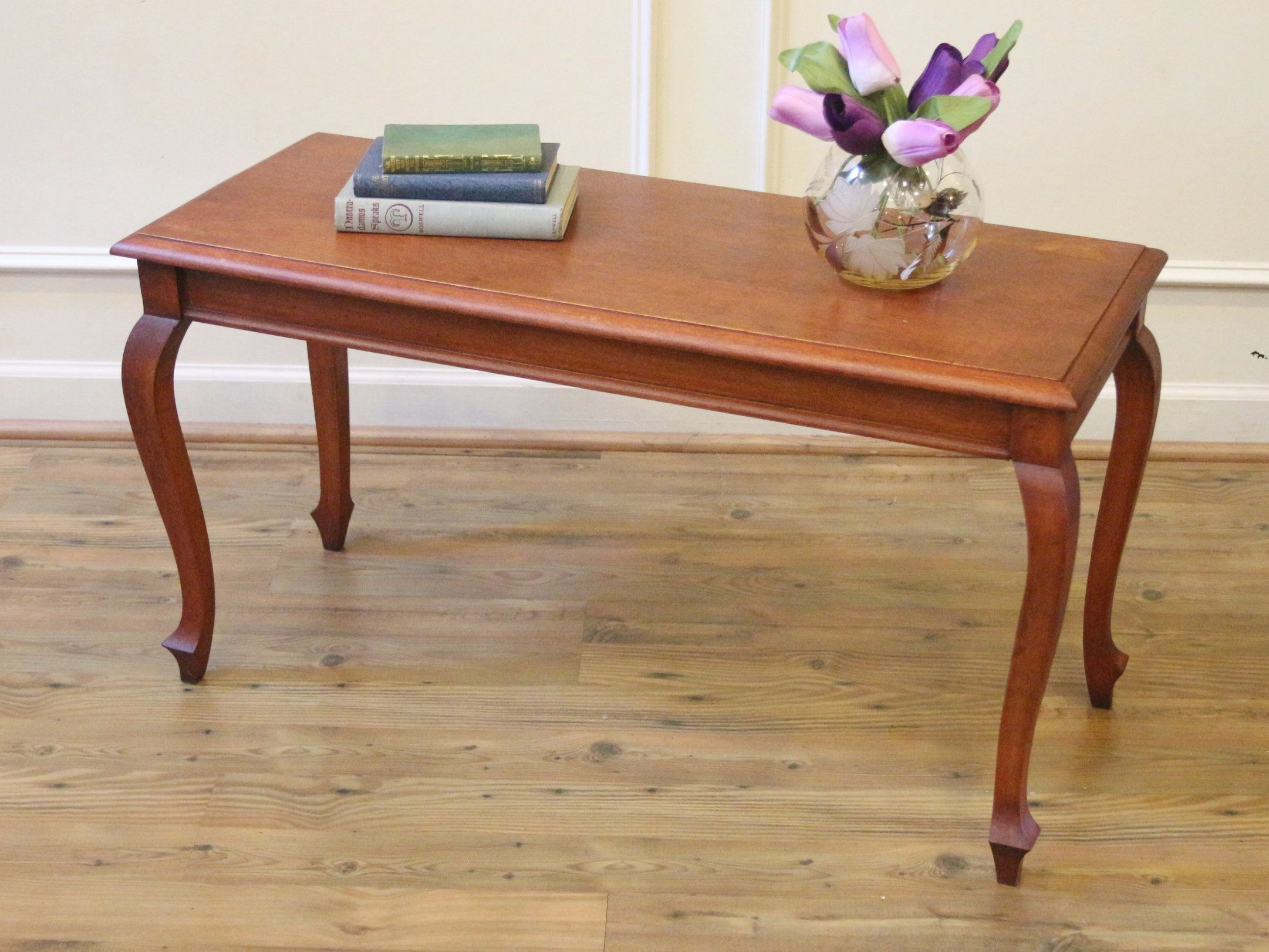 Vintage Small Wooden Coffee Table Or Bench French Country Style Antique Furniture Living Room Coffee Table Wooden Coffee Table [ 1622 x 2162 Pixel ]