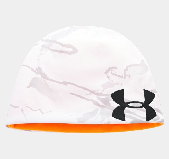 Under Armour - Men s UA Reversible Camo Beanie - Snow Reaper Camo -  Reversible beanie with camo side   hunter orange side a57252f72399