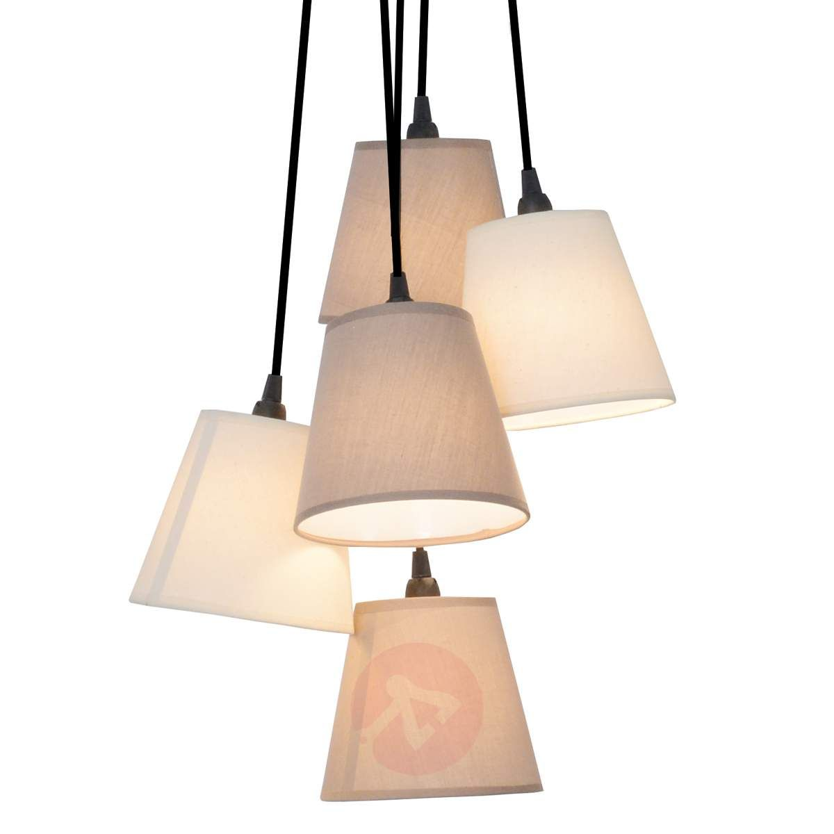 Twiddle Tekstylna Lampa Wiszaca Piec Kloszy Pendant Lighting Hanging Lights Pendant Light