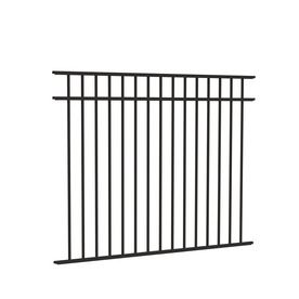Freedom Standard New Haven Black Aluminum Decorative Fence