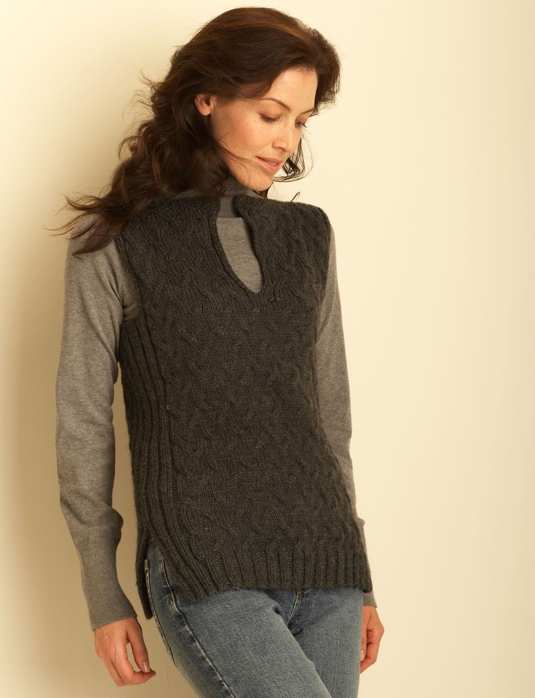 Yarnspirations Com Bernat Cable Vest Patterns