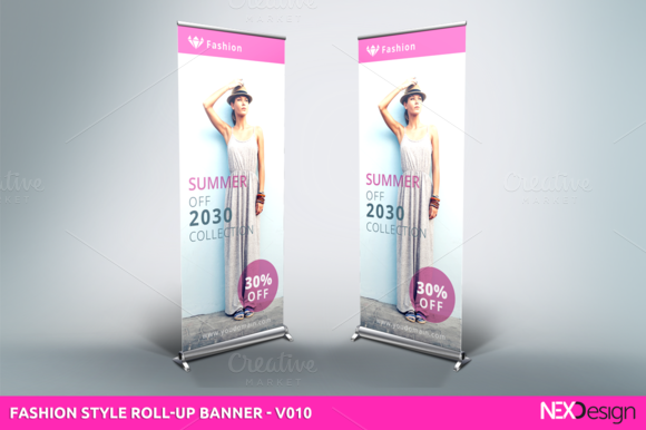 Fashion Style Roll-Up Banner - v010 by NEXDesign on @creativemarket