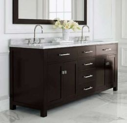 Bathroom Double Sink Cabinets Refined LLC Exquisite bathroom with