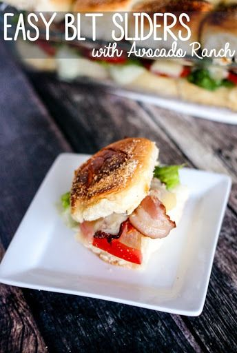Easy BLT Sliders with Avocado Ranch #avocadoranch