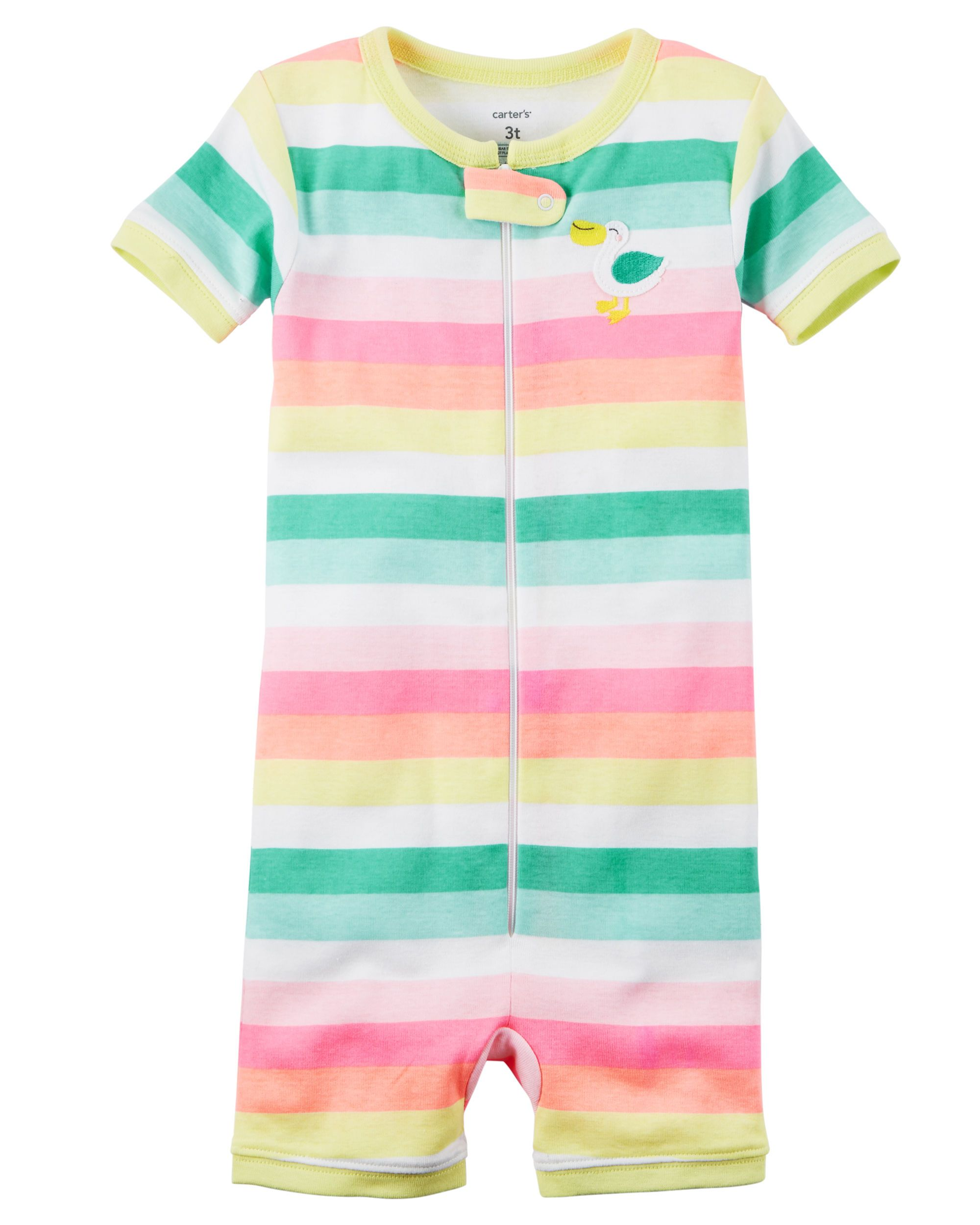 f8bd2c416750 Toddler Girl 1-Piece Snug Fit Cotton Romper PJs