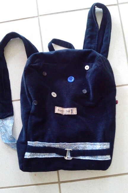 Bolsa de calça de veludo