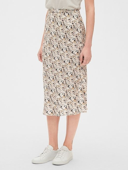 d58519eb2e Gap Women's Print Midi Skirt Multi Floral in 2019 | Products | Midi ...